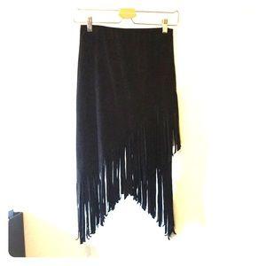 Dresses & Skirts - Fringed black skirt